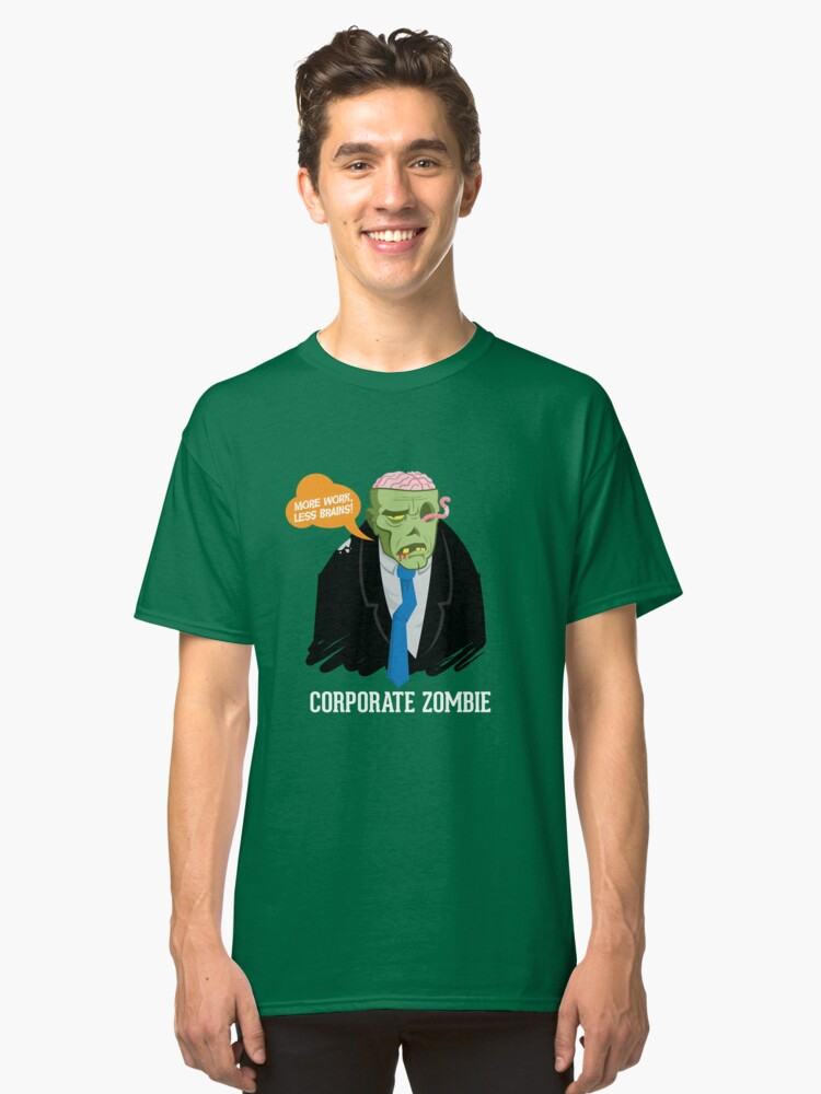Corporate Zombie Classic T-Shirt Front