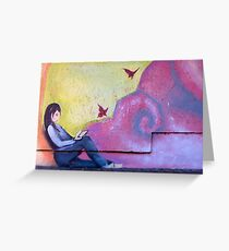 Girl and Bird Greeting Card