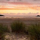 Crantock Beach Sunset by John Dunbar