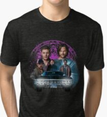 Supernatural Family dont end with Blood 2 Tri-blend T-Shirt