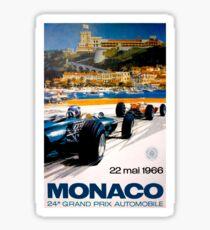 MONACO GRAND PRIX; Jahrgang 1966 Auto Racing Print Sticker
