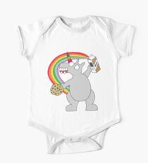 angry zombie unicorn has a snack One Piece - Short Sleeve