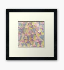 Triangle dull ornament Framed Print