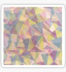 Triangle dull ornament Sticker