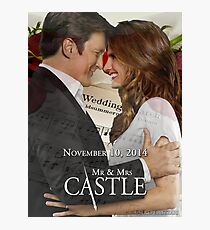 Caskett Wedding Photographic Print