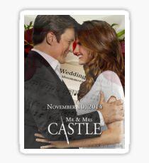 Caskett Wedding Sticker