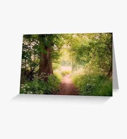 Follow my dreams!! Path to Fairyland!  Greeting Card
