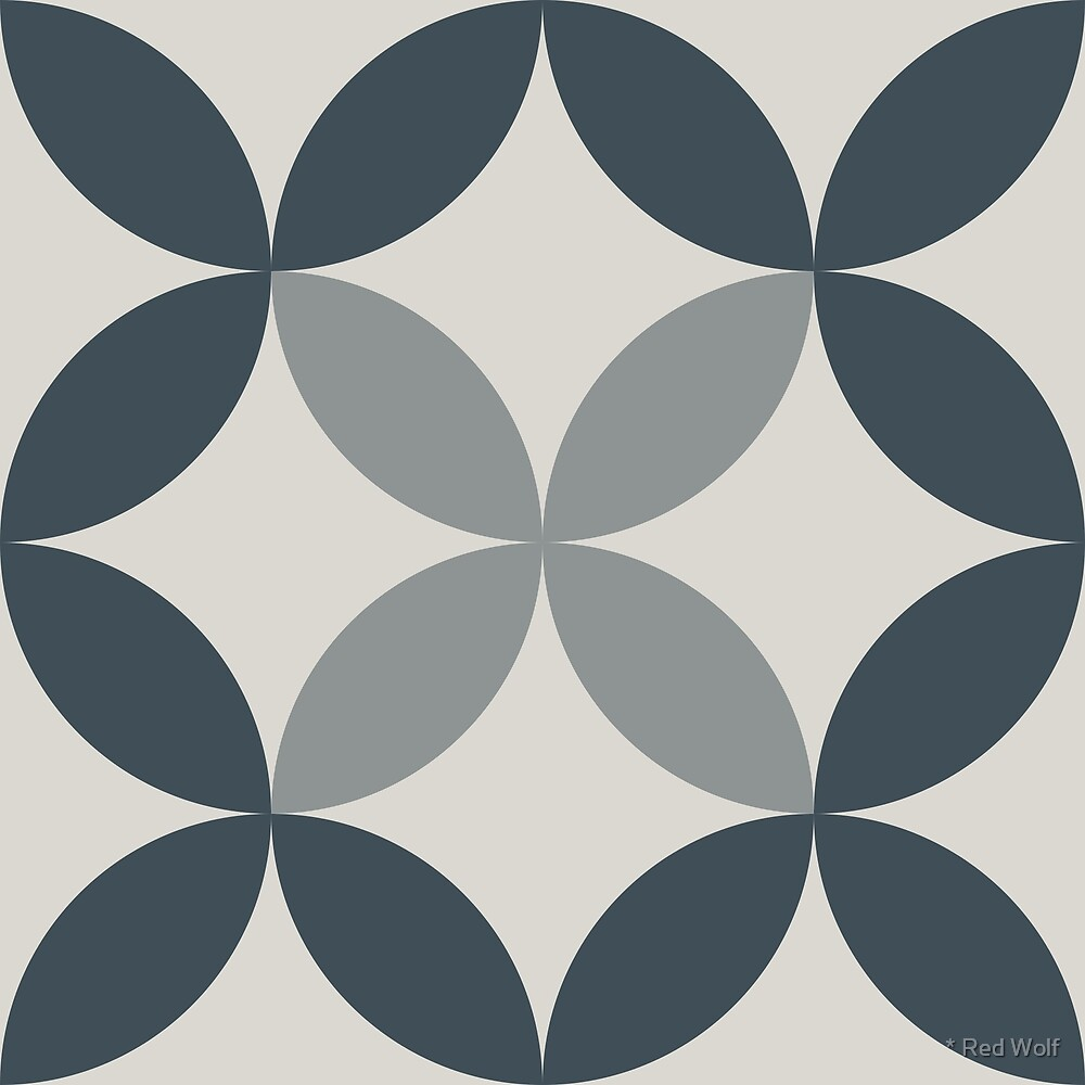 Geometric Pattern: Circle Nested: Pebble by * Red Wolf
