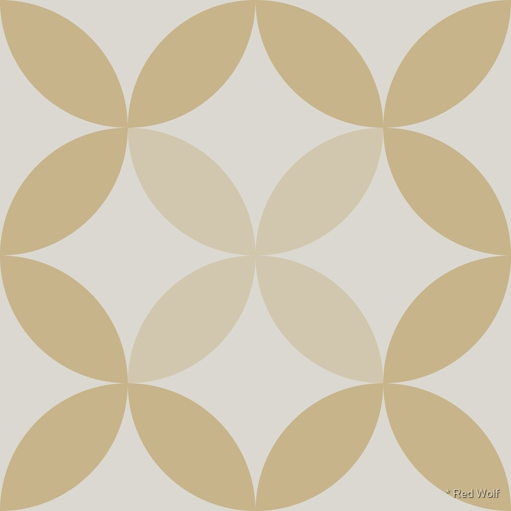 Geometric Pattern: Circle Nested: Sandstone by * Red Wolf