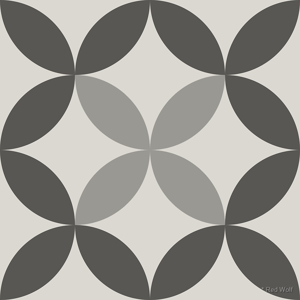 Geometric Pattern: Circle Nested: Slate by * Red Wolf