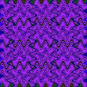 Purple Black Squiggle Pattern by donnagrayson