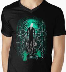 Slender Man 01 Men's V-Neck T-Shirt