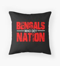 Bengals Nation Throw Pillow