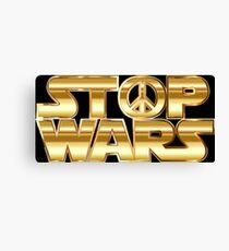 Star Wars Parody - Stop Wars  Canvas Print