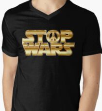 Star Wars Parody - Stop Wars  Men's V-Neck T-Shirt