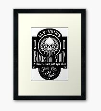 Old Vamos' Blacksmith Shop Framed Print