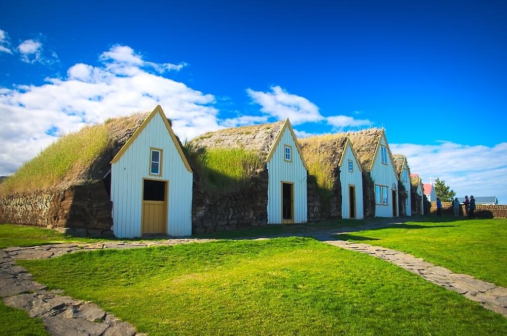 Icelandic traditional farm by thomasnicodeme
