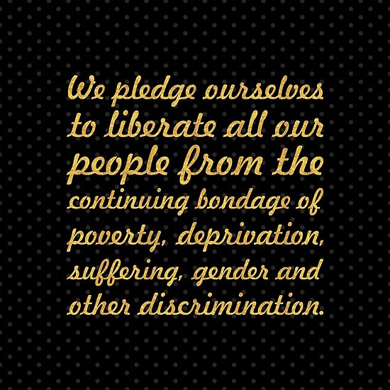 """We pledge ourselves... """"Nelson Mandela"""" Inspirational Quote (Square) by Powerofwordss"""