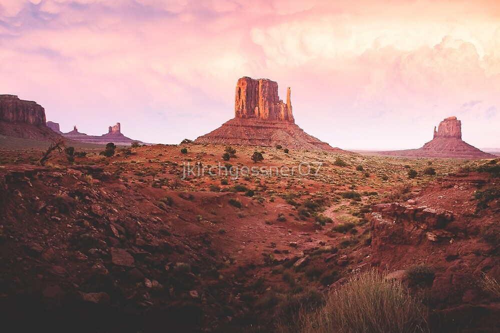 Sunset in Monument Valley by jkirchgessner07