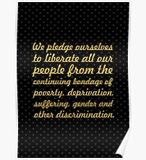"""We pledge ourselves... """"Nelson Mandela"""" Inspirational Quote Poster"""