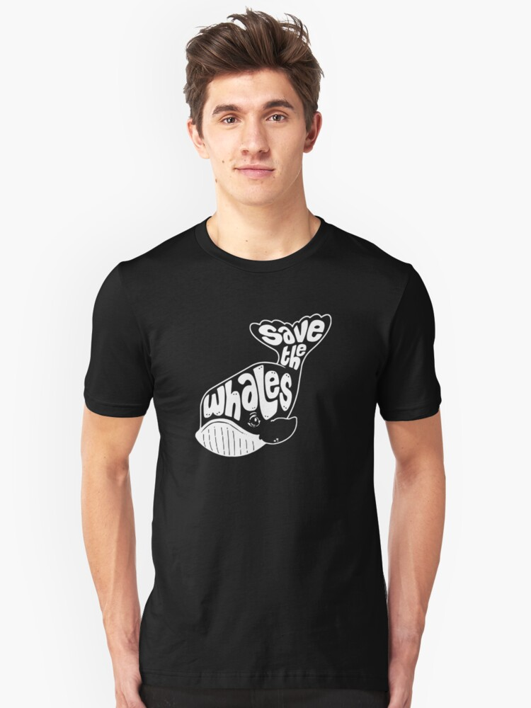 Save The Whales Funny Unisex T-Shirt Front