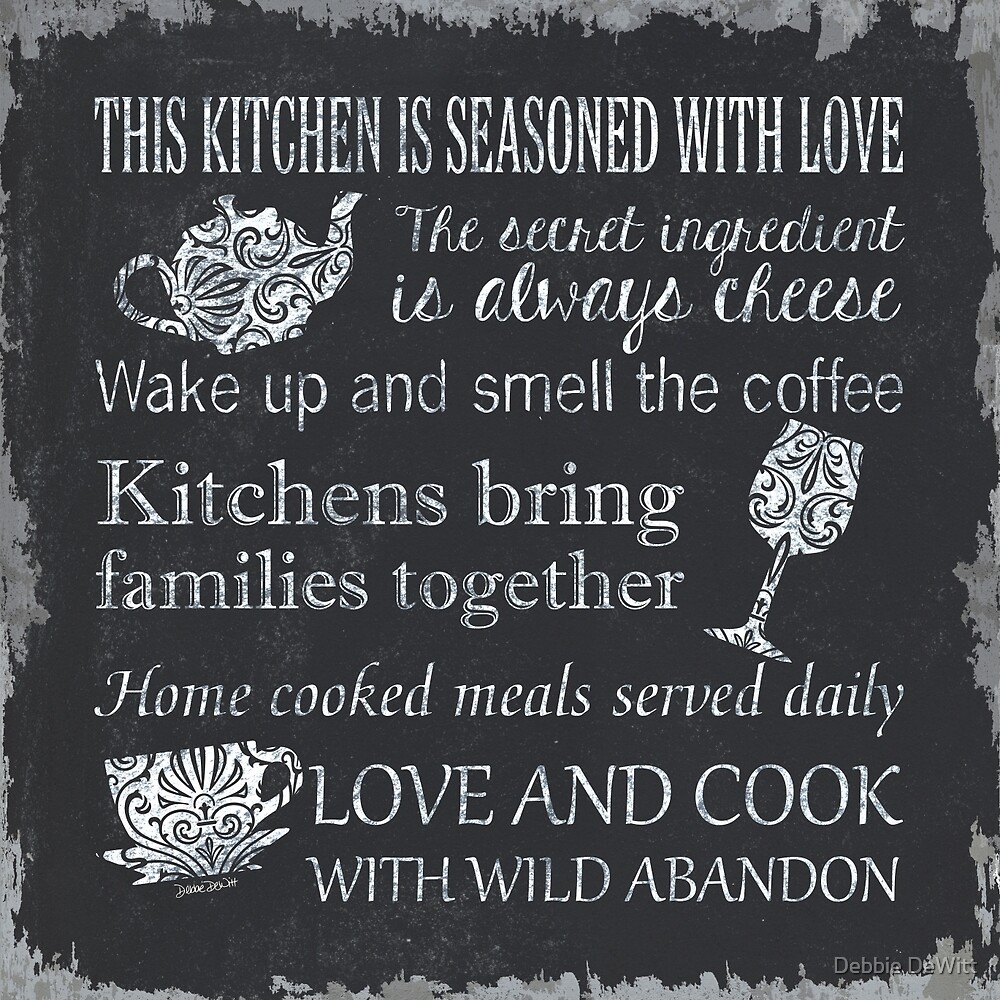 This Kitchen is Seasoned with Love by Debbie DeWitt
