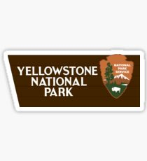 Yellowstone National Park sign Sticker