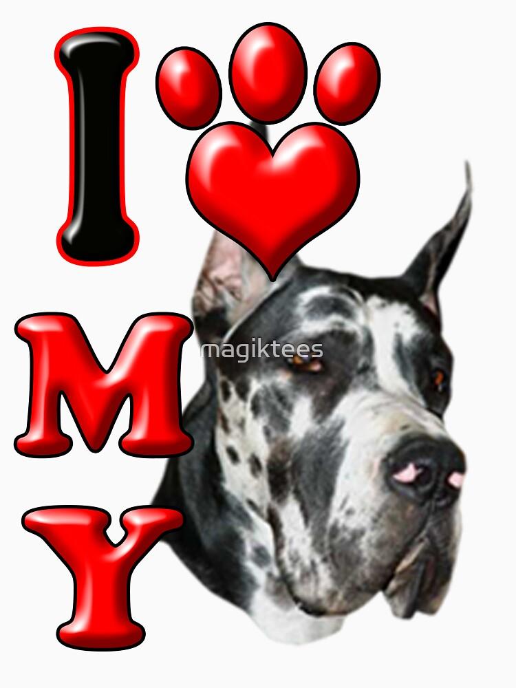 I Love My Great Dane by magiktees