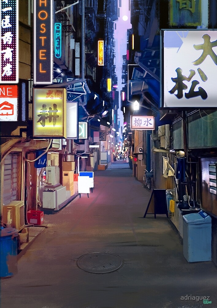 Night in Japan  by adriaguez