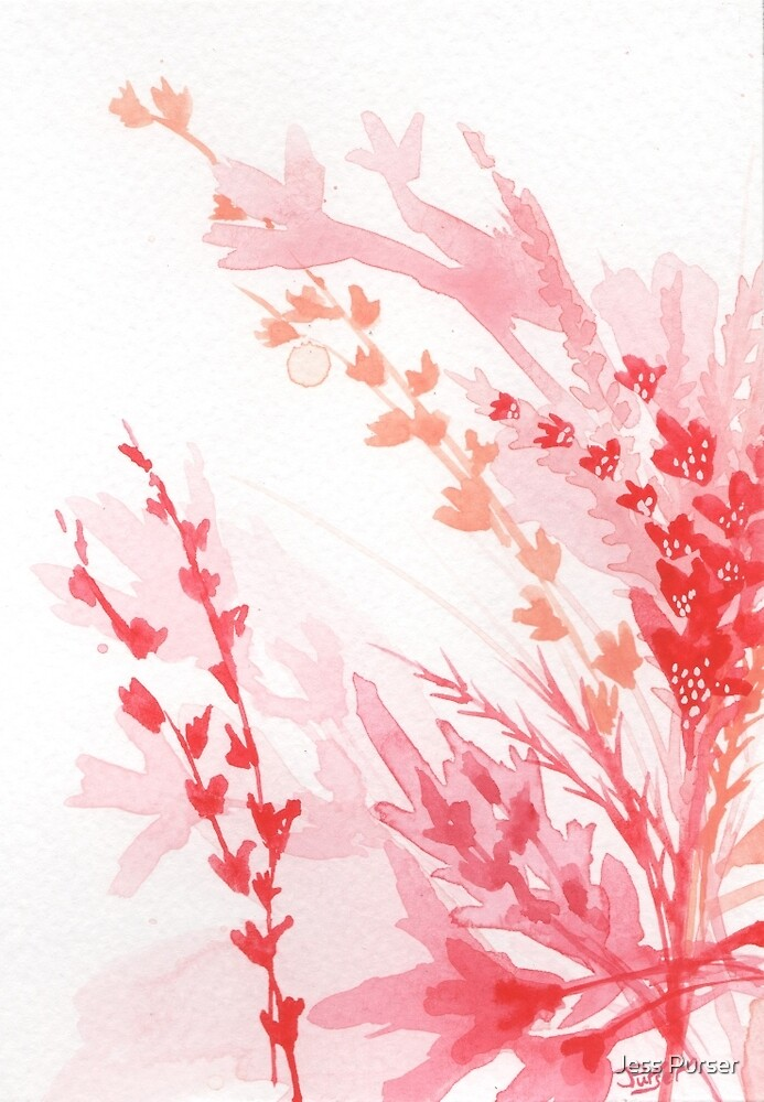 Floral Abstract #1 - Red wildflowers by Jess Purser