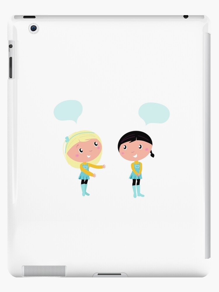 Little girls isolated on white background by Bee and Glow Illustrations Shop