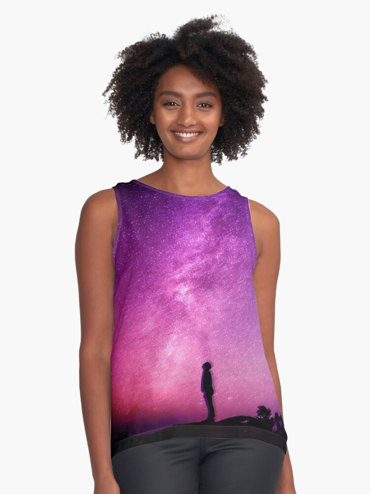 Starry Night Contrast Tank Front