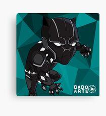 Black Panther Chibi Canvas Print
