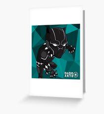 Black Panther Chibi Greeting Card