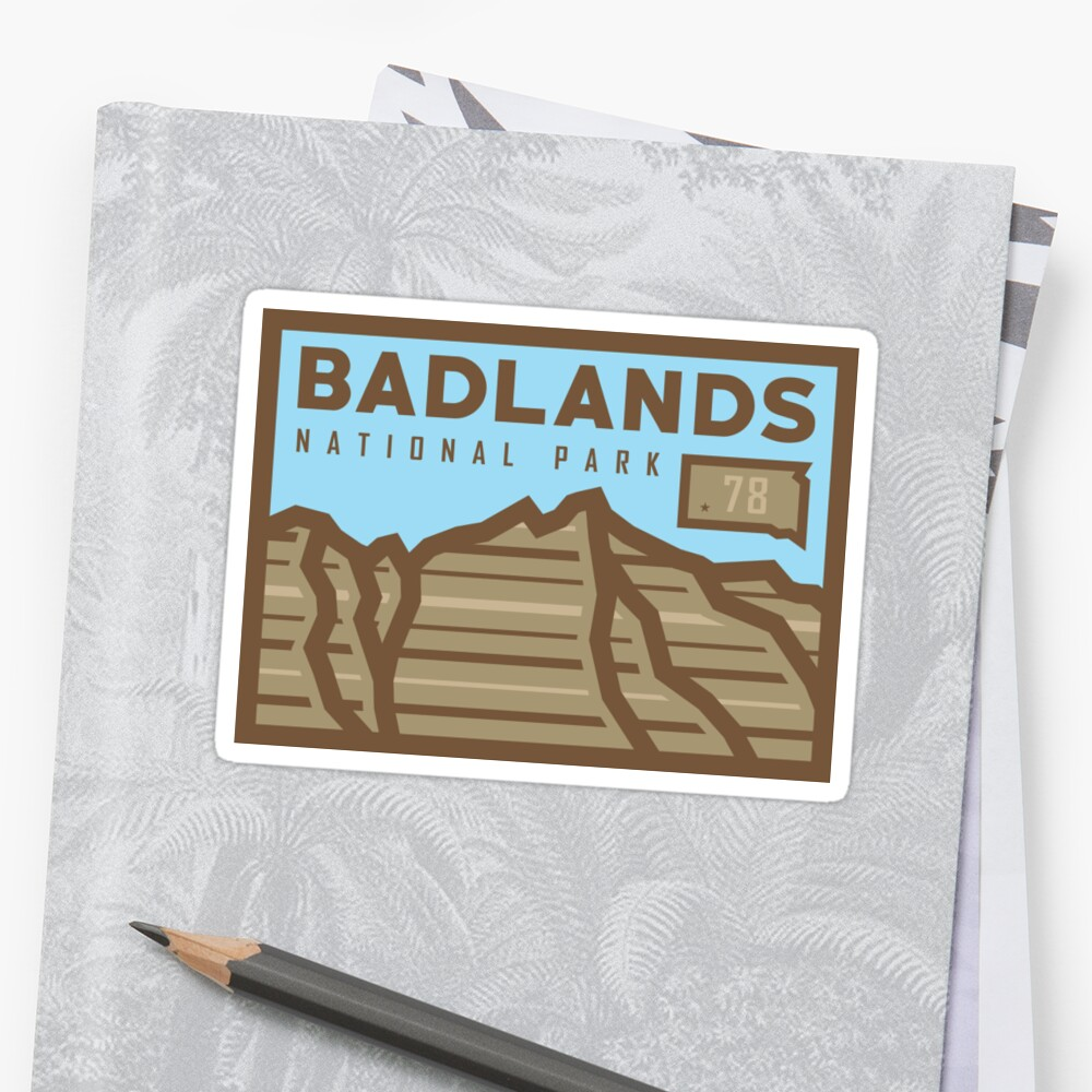 Badlands National Park stickers, gear! by alexyarrish