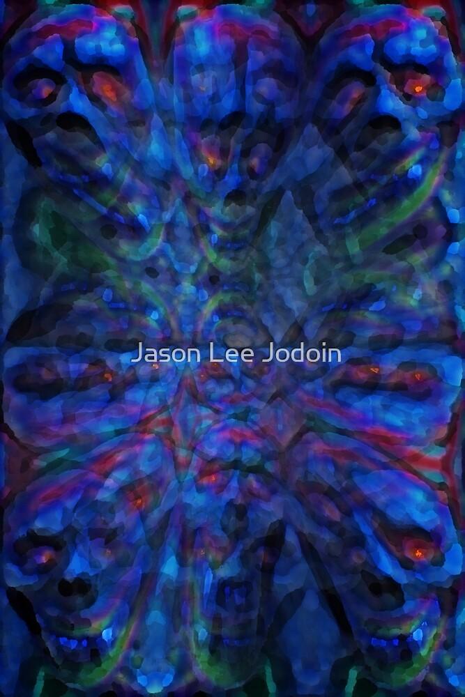 Blue Skull Dance Trax by Jason Lee Jodoin