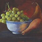 Still Life, Grapes and Pears by Maureen Whittaker
