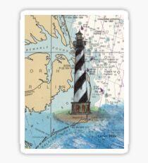 Cape Hatteras Lighthouse NC Nautical Chart Cathy Peek Sticker