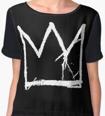 Basquiat King Crown Chiffon Top