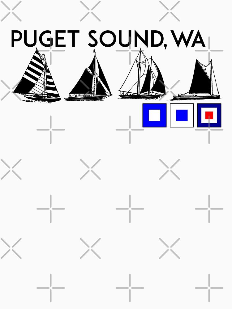PUGET SOUND WASHINGTON SAILING YACHTING YACHT SAIL BOAT SEATTLE by MyHandmadeSigns