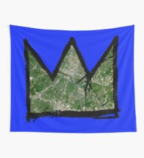 """Basquiat """"King/Queen of Austin Texas"""" Wall Tapestry"""