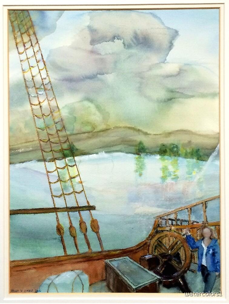 La Capitana Rosario, Tall Ship, El Galeon by watercolors1