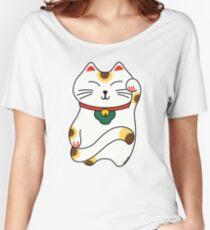 Maneki Neko - Japanese lucky cat Women's Relaxed Fit T-Shirt