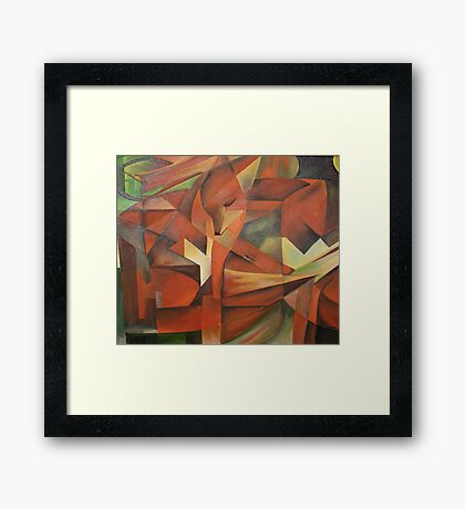 """""""Foxes"""" -  Homage to Franz Marc (1913)     Framed Print"""