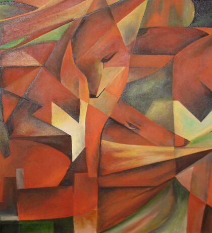 """Foxes"" -  Homage to Franz Marc (1913)     Sticker"
