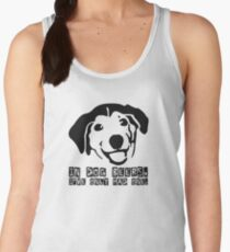 Dog Beer Funny T shirt Quote Animals Drunk Alcohol Cool Joke Women's Tank Top