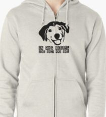 Dog Beer Funny T shirt Quote Animals Drunk Alcohol Cool Joke Zipped Hoodie