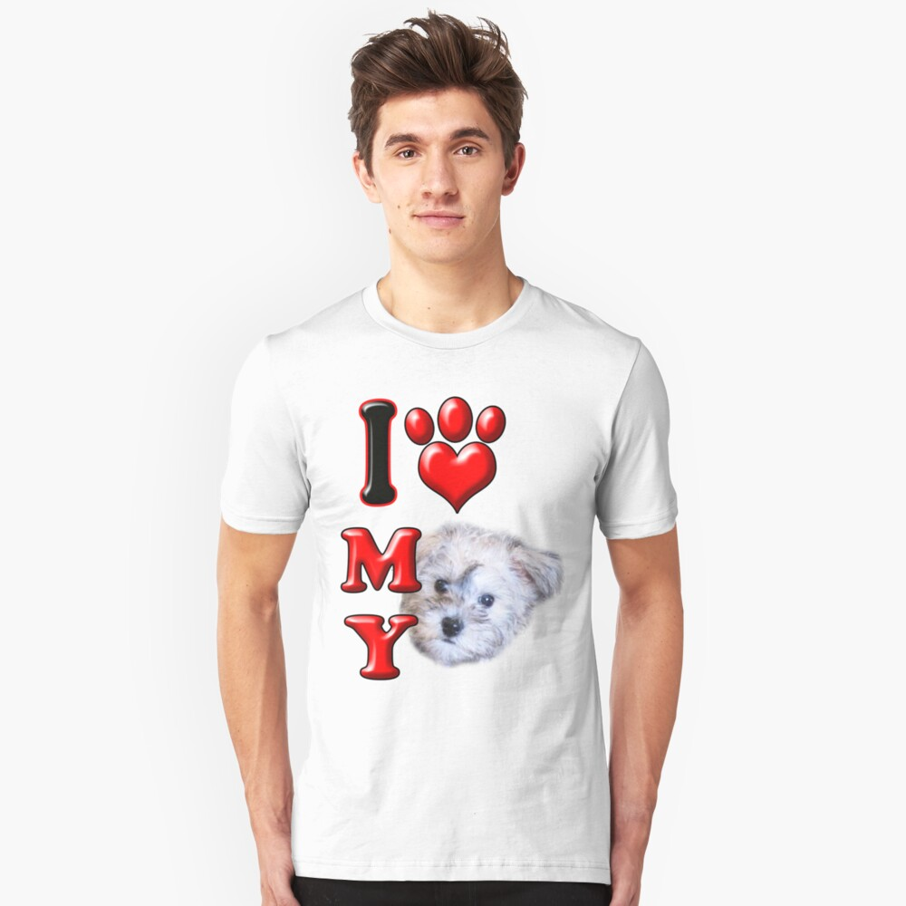 I Love My Schnoodle Unisex T-Shirt Front