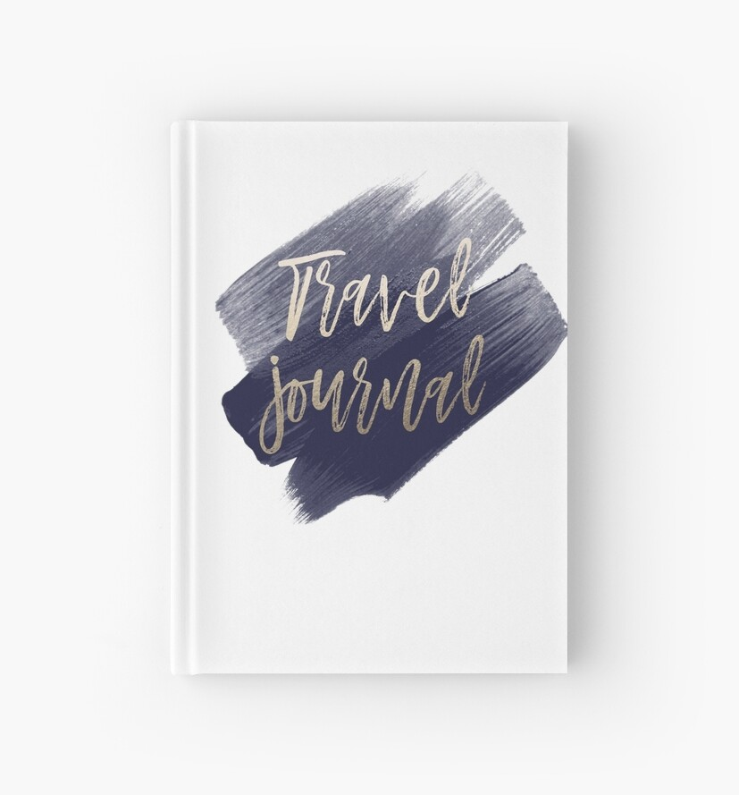 gold and navy travel journal by dairinne