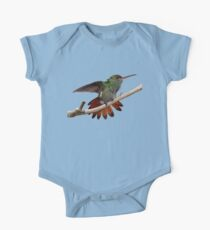 Rufous-tailed Hummingbird prints/apparel/home decor. One Piece - Short Sleeve